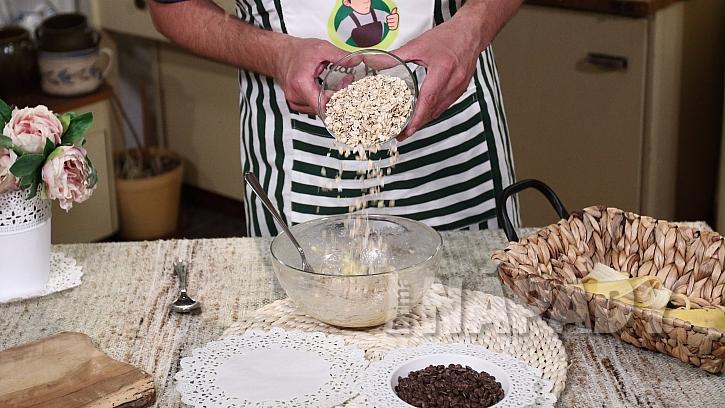Recept na banánové sušenky s čokoládou: přidejte ovesné vločky