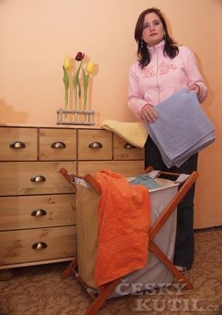 Sklopný koš na prádlo