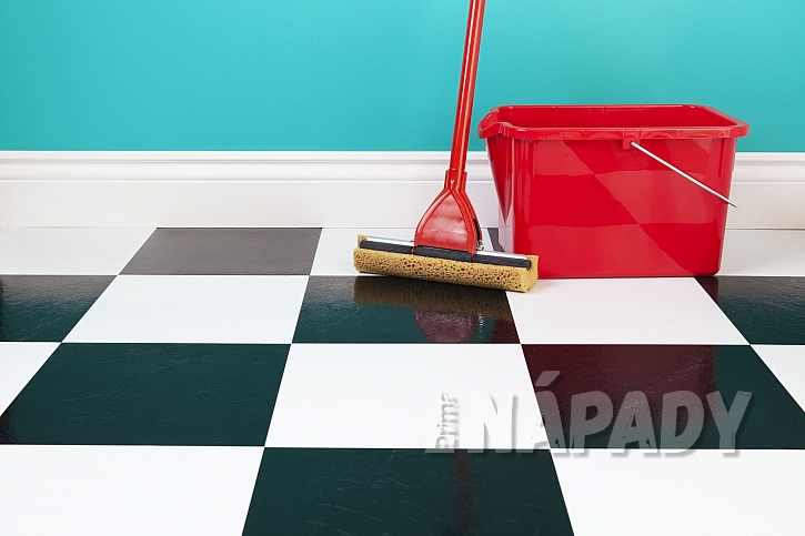 Podlaha s mopem a kýblem