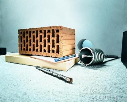 Vrtáky od Bosche pro kotvení a otvory do zdi