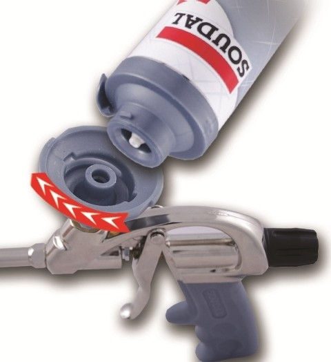 Click & Fix – upínací systém pro aplikaci pistolových pěn