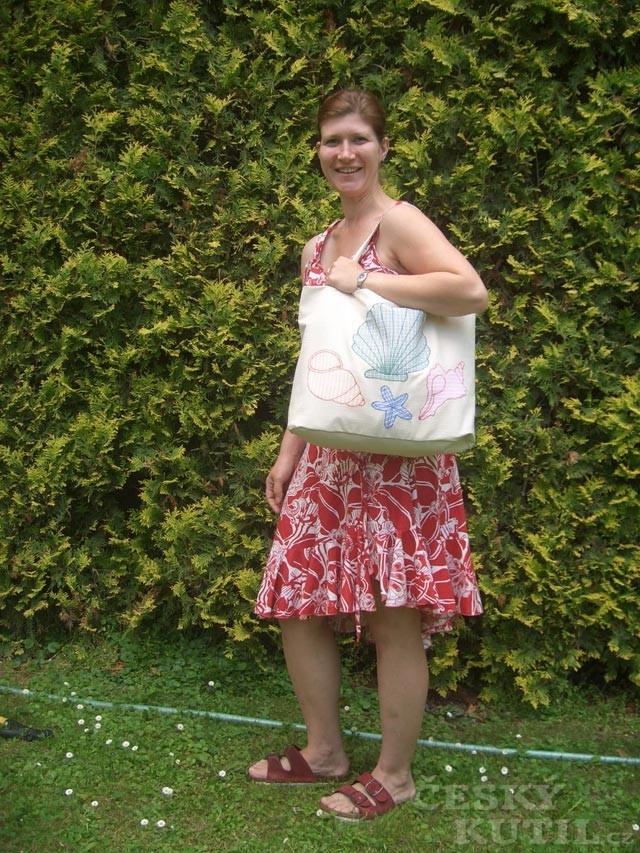 Výroba plážové tašky
