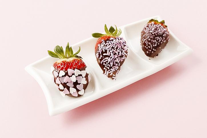 jahody s čokoládou