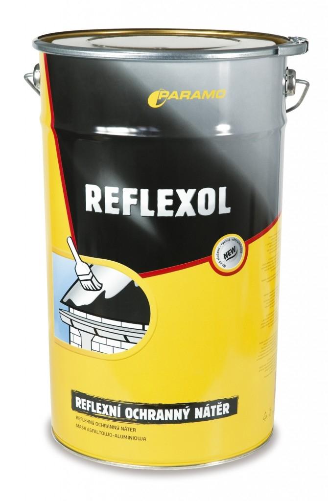 Oprava ploché střechy asfaltovým tmelem LUTEX MOAT a reflexním nátěrem REFLEXOL