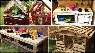 Zahradní nápady pro děti z dřevěných palet