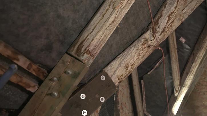 Oprava starého trámu