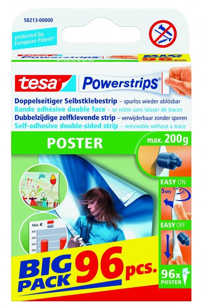 Odstranitelné proužky tesa® Powerstrips POSTER