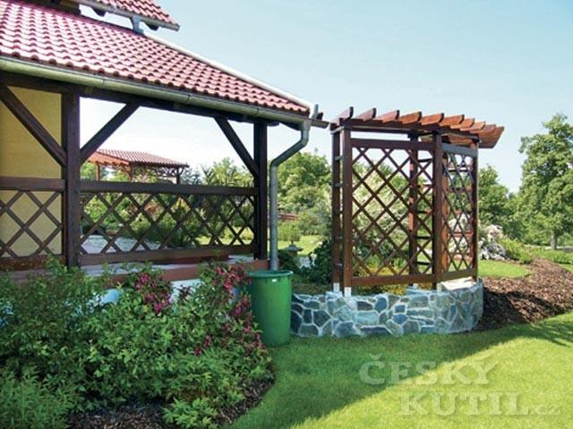 Materiál na stavbu zahradní pergoly