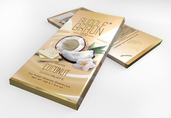 Bílá čokoláda s kokosem