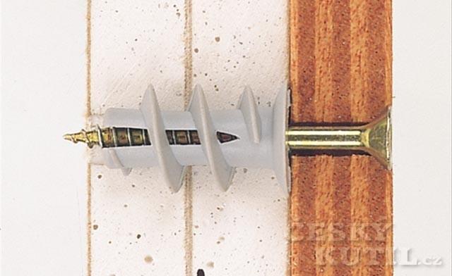 Hmoždinky pro sádrokarton – 2. díl: další typy vhodné pro sádrokarton