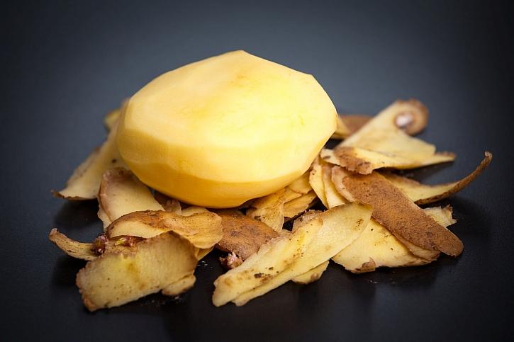Slupky z brambor
