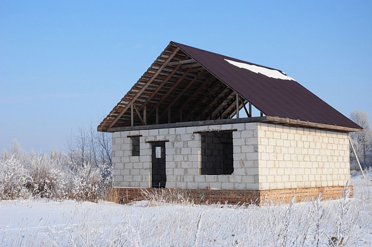 Je možné provádět stavební práce v zimě?