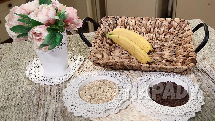 Co je na banánové sušenky s čokoládou potřeba