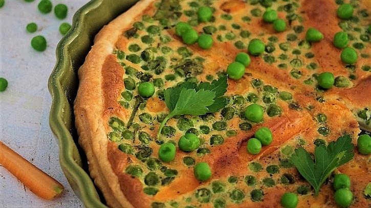 Recept na slaný koláč shráškem a mrkví