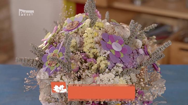 Jak si vyrobit dekorace ze sušených květin? (Zdroj: Dekorace ze sušených zahradních květin)