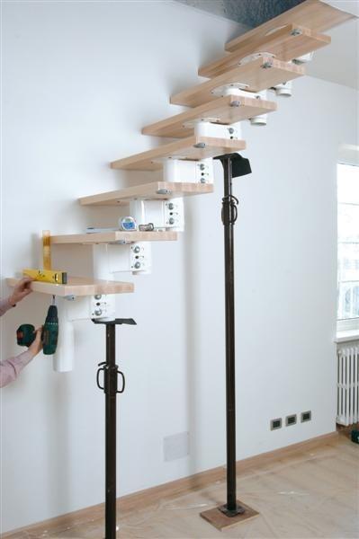 Montáž stavebnicového schodiště krok za krokem
