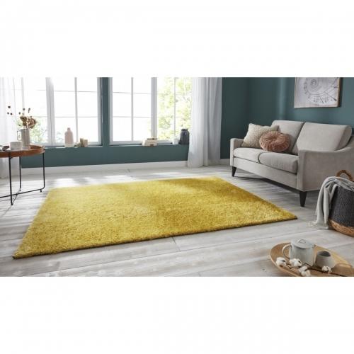 Ručně všívaný kusový koberec Mujkoberec Original  - 200x290 cm Žlutá