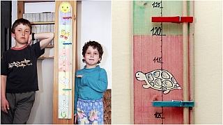 Dětský metr s kolíčky aneb Kdo roste rychleji?