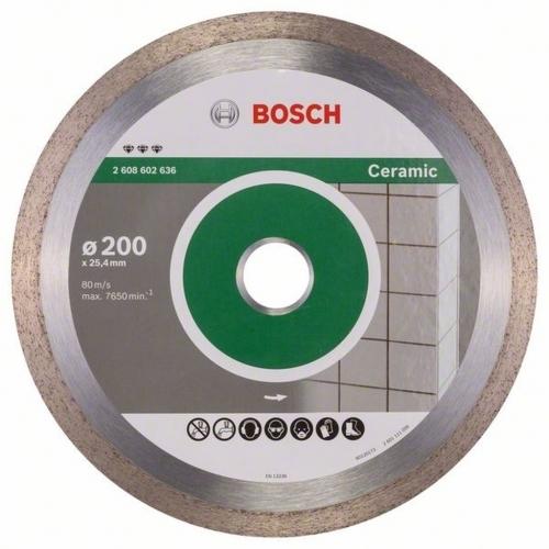 BOSCH Best for Ceramic Diamantový řezný kotouč, 200 x 25,4 x 2,2 x 10 mm 2608602636