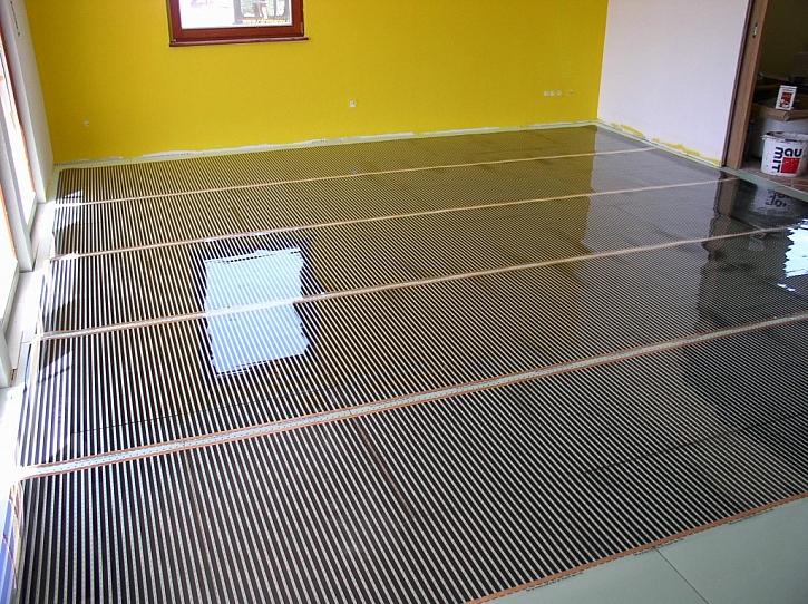 Ukázka podlahy s topnou folií ECOFILM