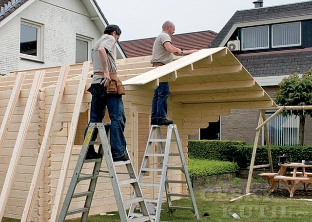 Montáž střešní konstrukce