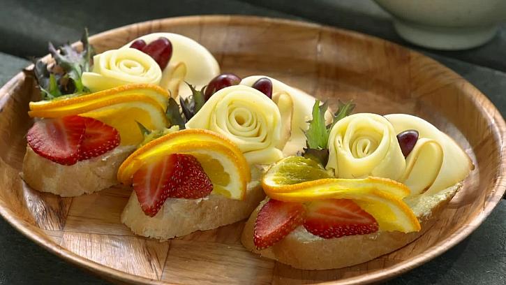 Sýrové chlebíčky