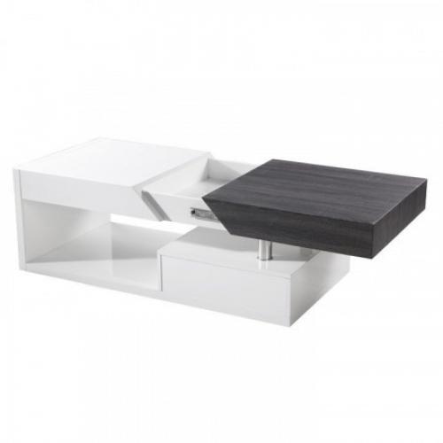 Konferenční stolek, bílý lesk / černý, MELIDA, Tempo Kondela