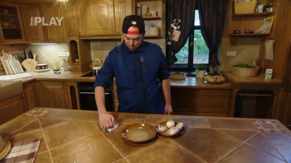Využití kráječe na vajíčka na krájení hub