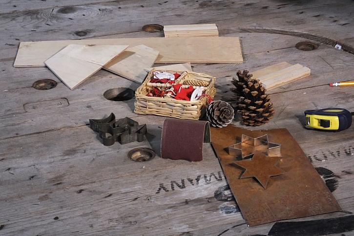 materiál na výrobu stromečku
