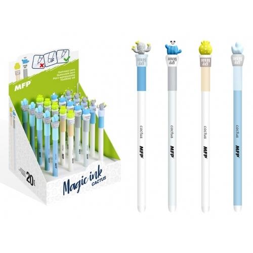 MFP kuličkové pero Cactus 0,7, gumovací, modré