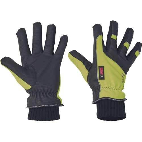 Rukavice 1st Winter jsou ušité z pružného nylonového materiálu v oblasti hřbetu ruky a palce