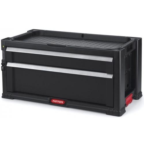 KETER box na nářadí - 2 zásuvky, černý
