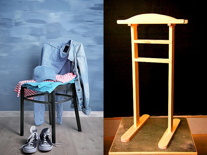 Nenechte válet věci na židli, vyrobte si němého sluhu (Zdroj: Depositphotos/Jaroslav Kropáč)