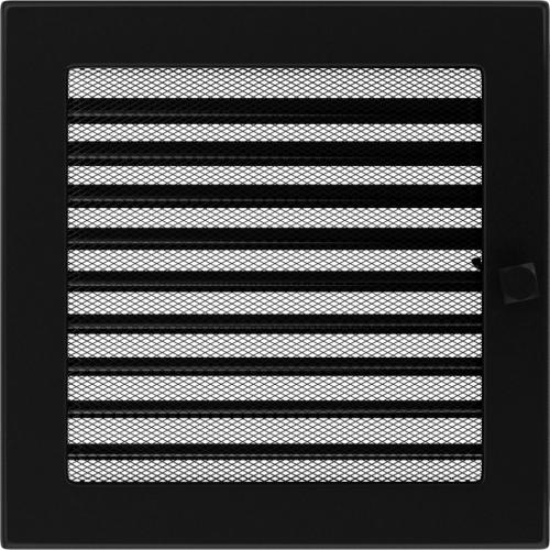 Krbová mřížka 22x22 BASIC černá s žaluzií