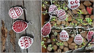 Velikonoční vajíčka s potiskem: Jarní dekoraci zavěste na narašené větvičky do vázy