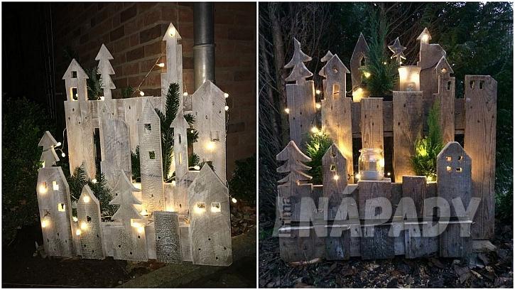 Vánoce přede dveřmi: dřevěné městečko