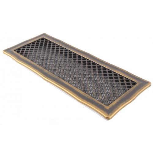 Krbová mřížka 16x45cm DECO zlatá patina