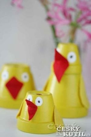 Výroba velikonoční dekorace – kuřátka a veselé plato na vajíčka