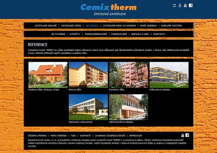 Nový web společnosti Cemix