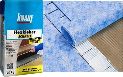 Aplikací hydroizolační tkaniny Knauf Hydroflex a lepidla Knauf Flexkleber Schnell zkrátíte významně čas realizace. Spárovat můžete již za 3 hodiny.