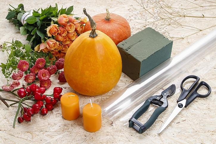 Materiál na výrobu podzimní dekorace