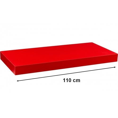 STILISTA VOLATO 31075 Nástěnná police  - matná červená 110 cm