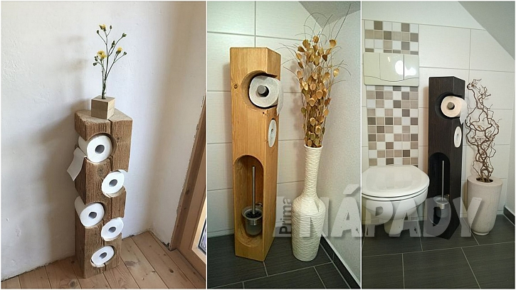 Toaletní papír: sloupy ze dřeva