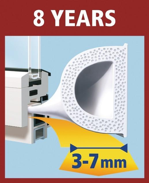 D-profil utěsní mezery od 3 - 7 mm, šetří až 40% nákladů za energii