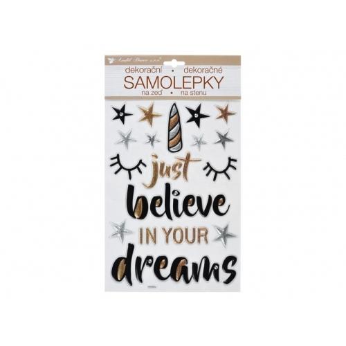 Anděl samolepící dekorace 10396 Believe in Dreams prostorová 36 x 21 cm