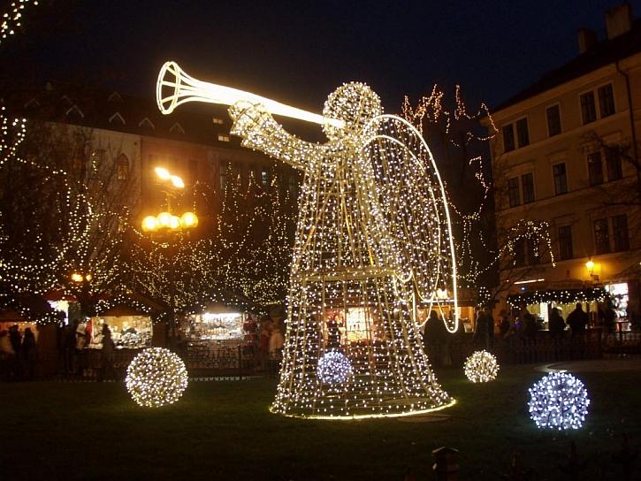 Vánoční stromy ve městech