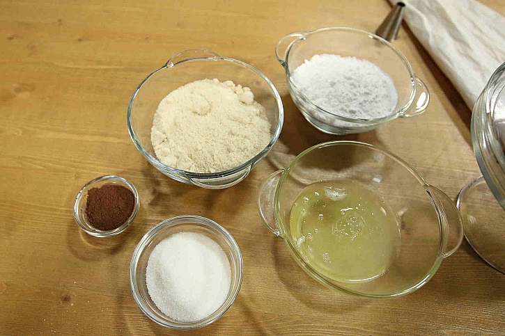 Ingredience na makronky