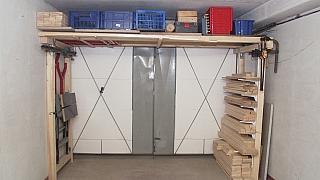Jak udělat úložný prostor v garáži: Snížený podhled