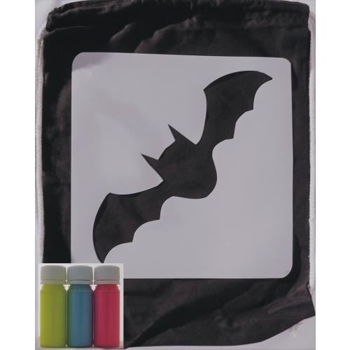Sada na tvoření - Batůžek netopýr /neon žlutá, modrá, červená