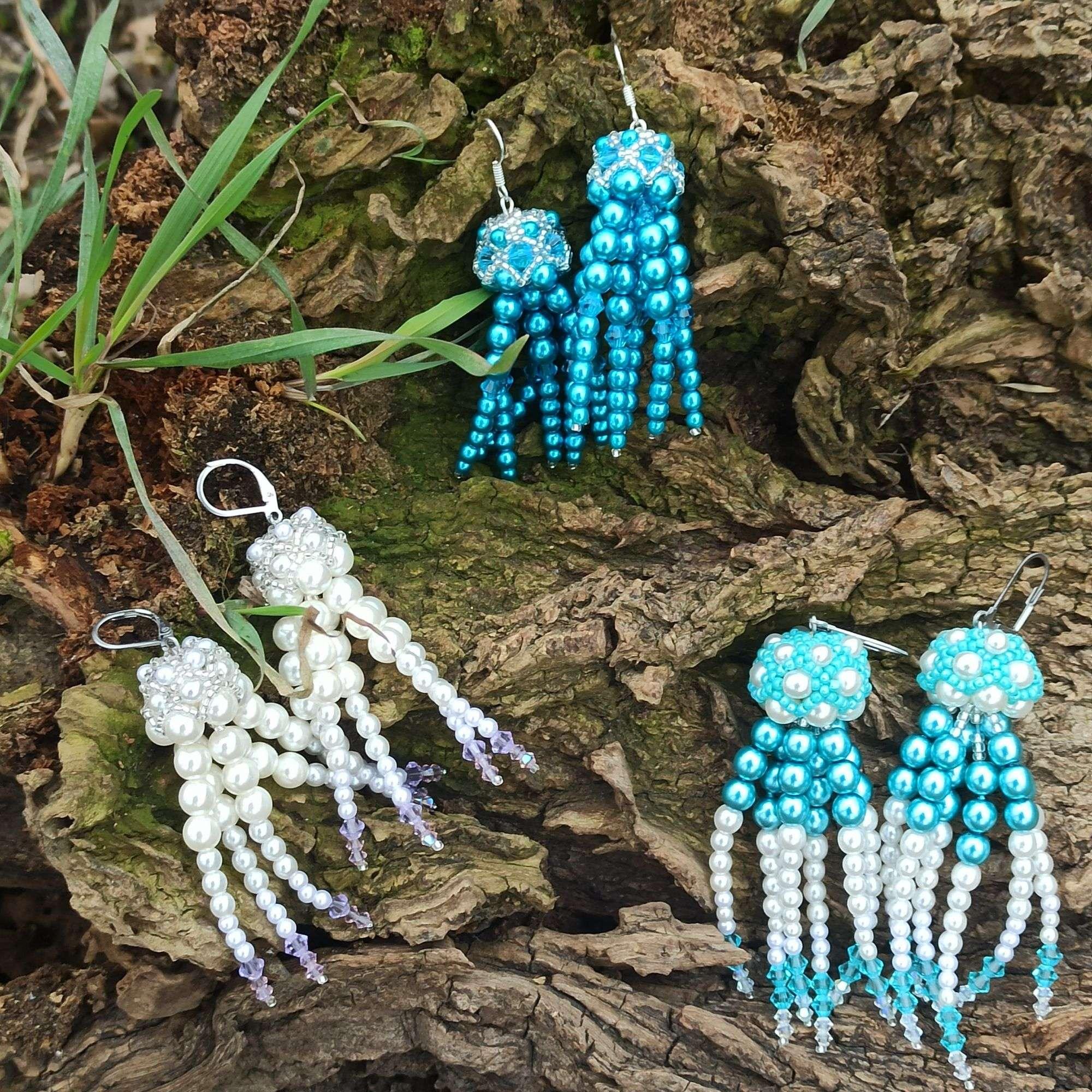 Ozdobte se náušnicemi ve tvaru medúz, barvu si při výrobě uzpůsobíte k svému outfitu